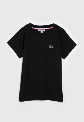Camiseta lacoste kids infantil logo azul/preta