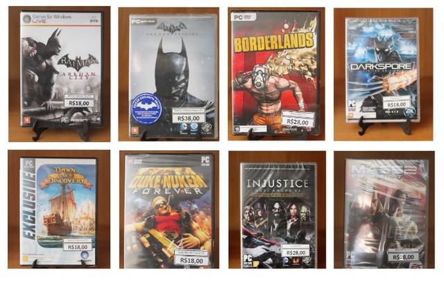 Coleção com 16 games para pc originais em mídia física