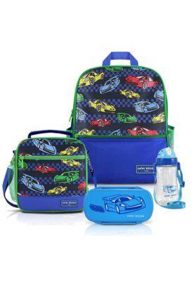 Conjunto completo menino carro jacki design sapeka azul