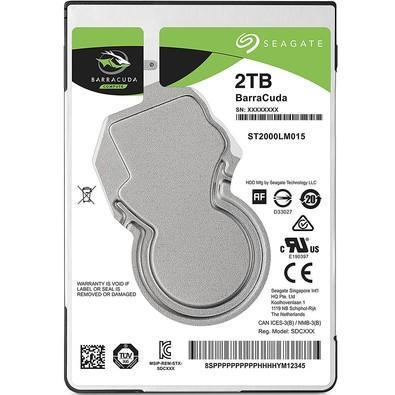 HD Seagate BarraCuda, 2TB, 2.5´, Notebook, SATA -