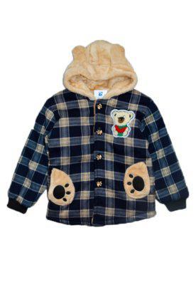 Jaqueta casaco manabana infantil grossa com pelucia azul