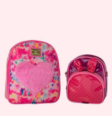 Kit bolsa infantil luxinho menina com mochila