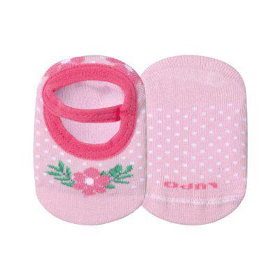 Meia infantil menina sapatilha lupo 1 par 0a4 meses