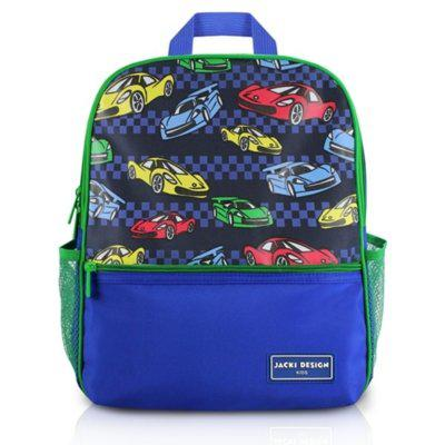 Mochila escolar infantil carro jacki design sapeka azul