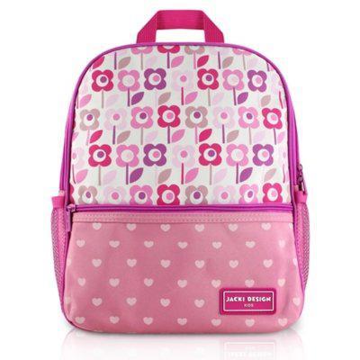 Mochila escolar infantil flor jacki design sapeka rosa