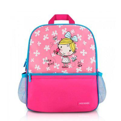 Mochila infantil escolar jacki design costas acolchoada rosa
