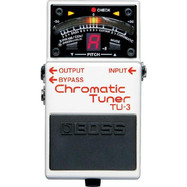 Pedal boss tu3 chromatic tuner afinador cromático na loja