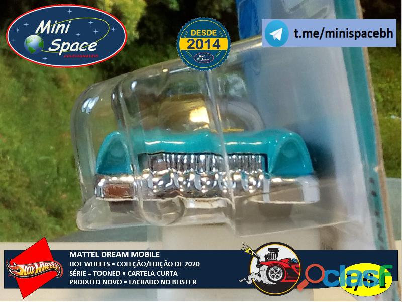 Hot Wheels 2021 Mattel Dream Mobile Azul Cartela Curta 1/64 6