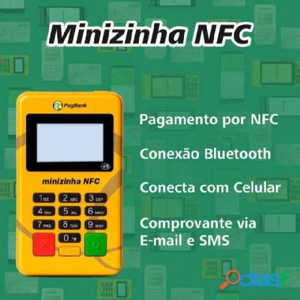 Nova Maquininha Minizinha NFC do Pagseguro. Não perca mais vendas!