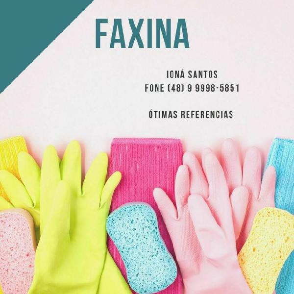 Faxina/diarista/organização ambientes