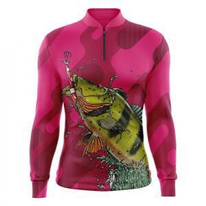 Camiseta de pesca camuflada cr sublime crpm05uv50 proteção