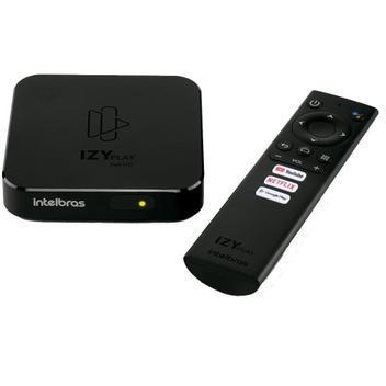 Conversor digital smart box android tv izy play, preto -