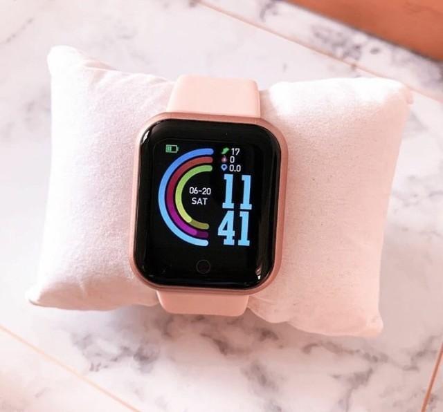 Menina relógio digital inteligente rosa