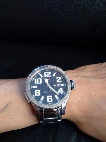 Relógio masculino tommy hilfiger pulseira de aço