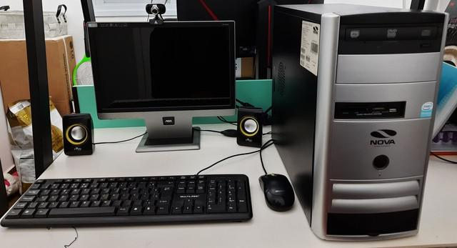 Computador desktop dual core c/ placa de vídeo