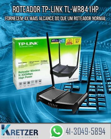 Roteador wireless n 300mbps high power tp-link tl-wr841hp