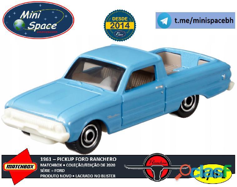 Matchbox 1961 Ford Ranchero Pickup cor Azul 1/64