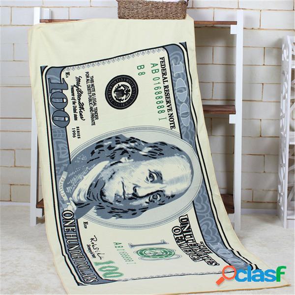 80x150cm absorvent microfiber dollor praia toalhas creative design toalha de banho de secagem rápida