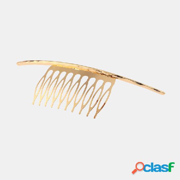 Acessórios de grampo de cabelo da moda superfície de relevo decorativo prata ouro alfinetes de cabelo joias doces para m