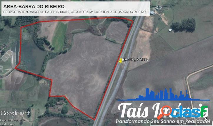 área de 22 hectares na BR 116 próximo a Barra do Ribeiro