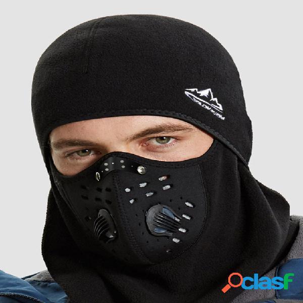 Homens plus thick keep warm riding outdoor à prova de vento antiembaçamento proteção pescoço respirável lenço na cabeça