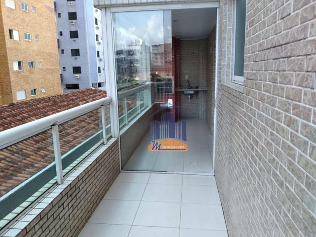 Apartamento no litoral com 1 dormitório à venda, 55 m²