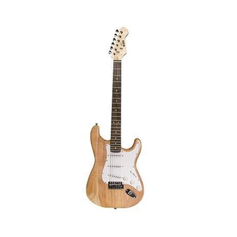 Guitarra strato newen st natural wood natural loja fisica rj