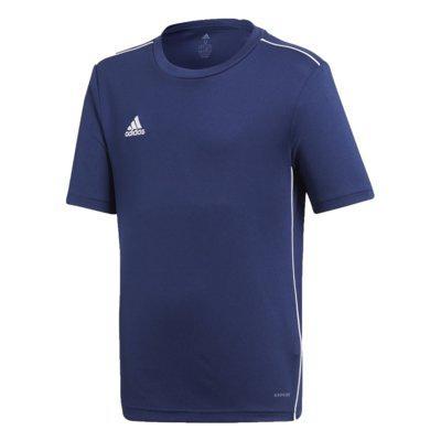 Camisa adidas infantil core 18 treino azul menino cv3494