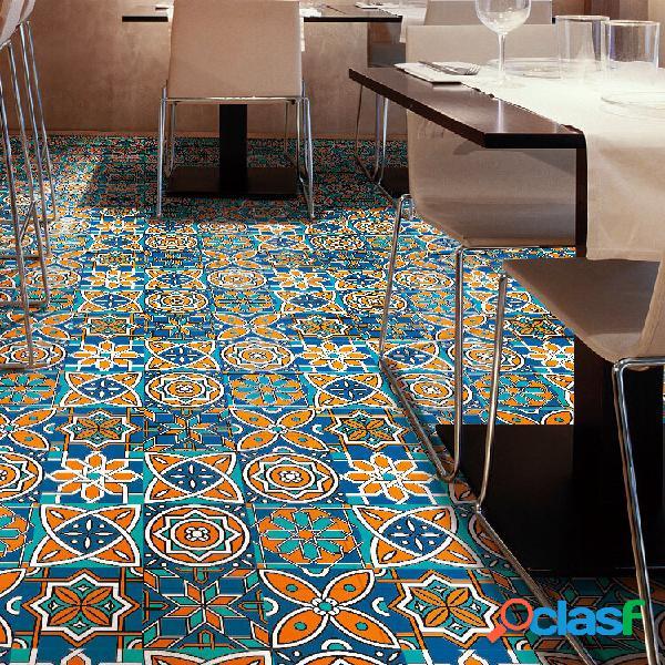 3d retro criativo padrão adesivo de azulejo diagonal roupeiro de mesa art mural diy decoração adesivo de parede à prova