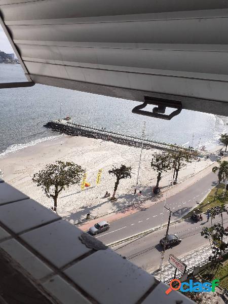 Apartamento 1 dormitório sacada vista mar boa vista são vicente
