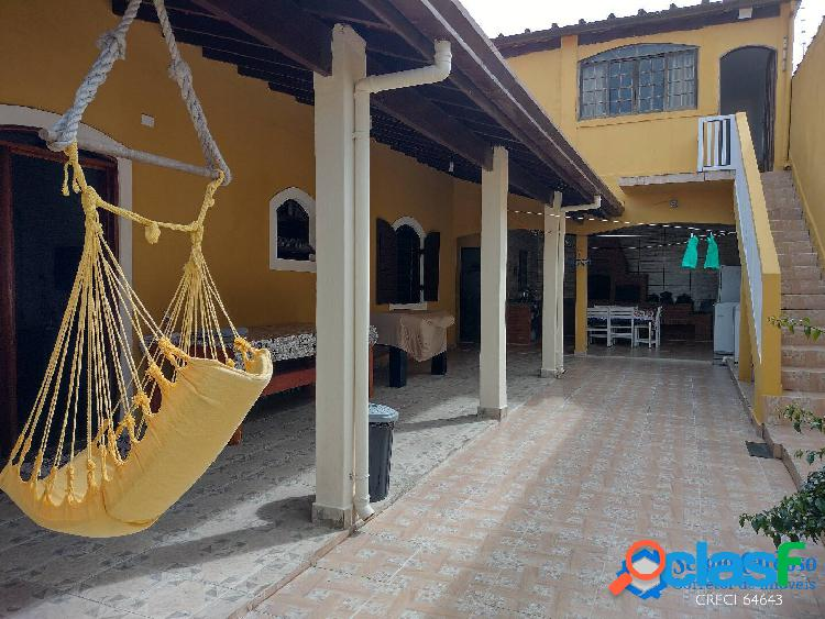 Ótima casa-bom acabamento + edícula - 200m mar - gaivotas - itanhaem-sp