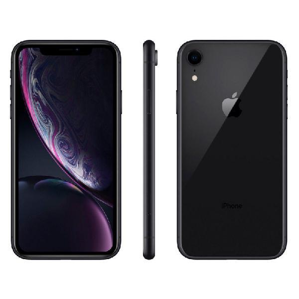 "Iphone xr apple 64gb 4g preto tela 6,1"" câmera 12mp ios"