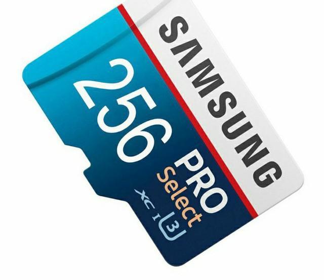 Cartão de memória 256gb samsung pro select.promoção.
