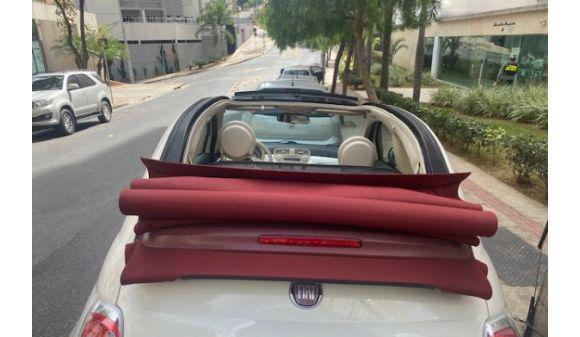 Fiat 500 1.4 cabrio dualogic flex 1.4 8v 14/14 branco