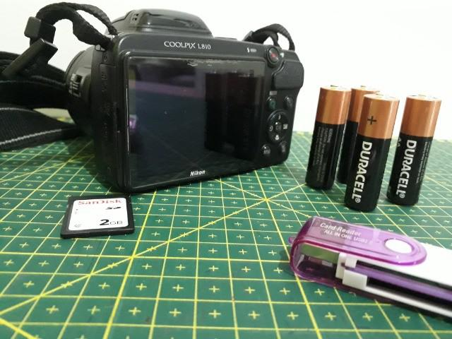 Câmera semiprofissional nikon coolpix l810 preta