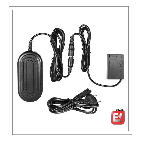 Fonte + adaptador ac ack-e18 para bateria lp-e17