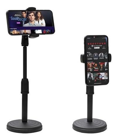 Suporte com base de mesa para celular com rotação 360