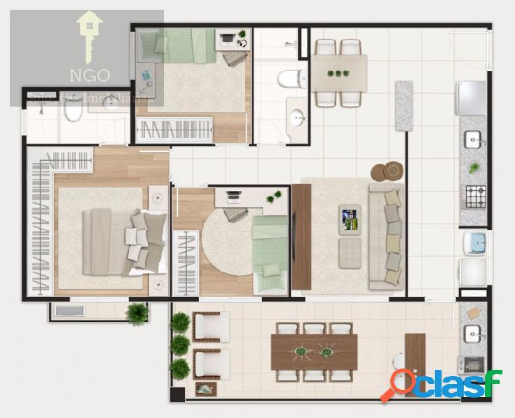 Apartamento com 3 quartos, 92m², à venda - jardim são paulo(zona norte) - são paulo