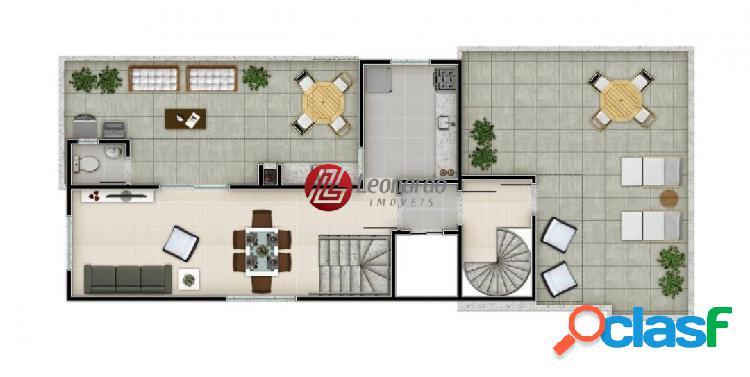 cobertura Duplex 3 qtos, sendo 1suíte - Dona Clara 1