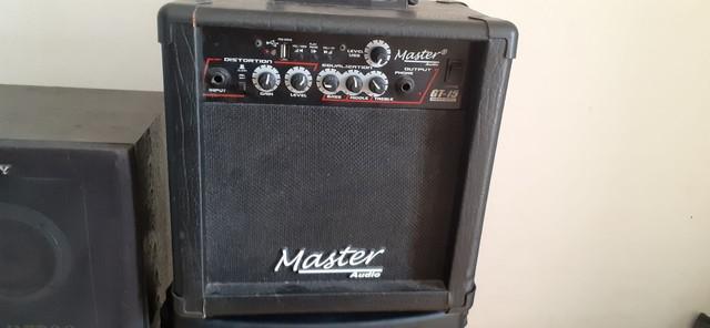 Amplificador de guitarra master áudio