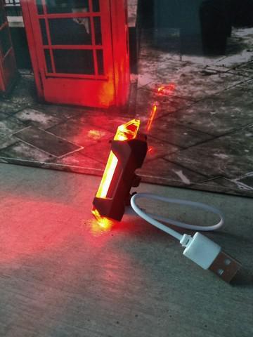 Lanterna bike led sinalizador recarregável usb