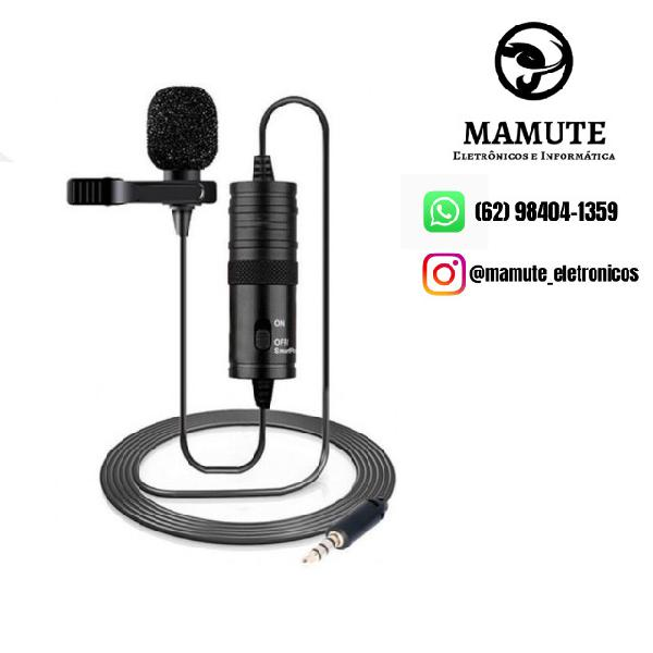 Microfone de lapela p/ smartphones e câmeras andowl q955s