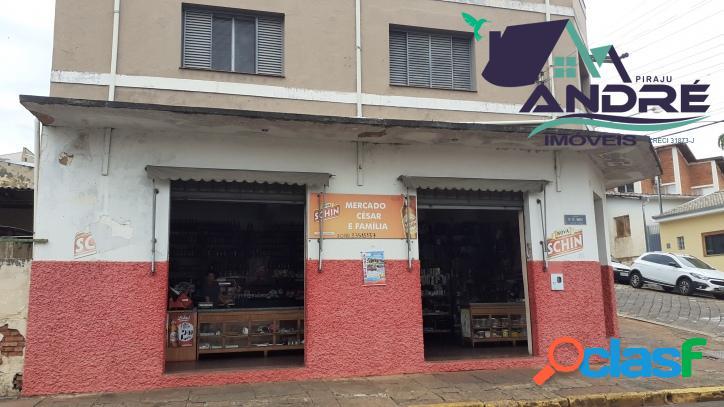 Imóvel comercial/residencial, 216,60 m², 3 dormitórios, centro, piraju/sp.