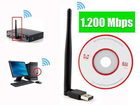 Antena receptor wi-fi wifi 1200mbp adaptador wireless