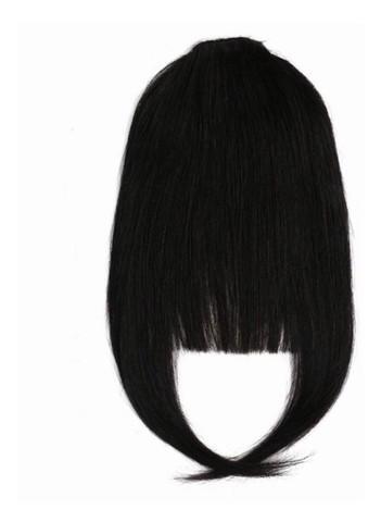 Aplique de franja cabelo humano remy preto 1 b natural