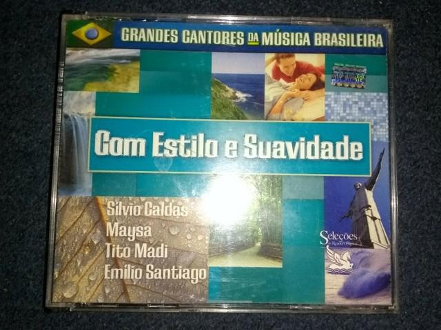 Box com 3 cds - grandes cantores da música brasileira