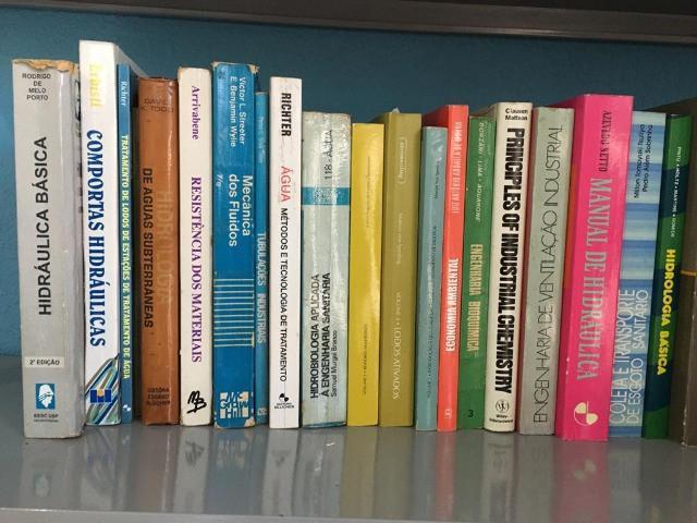 Livros de saneamento, hidráulica, hidrologia, tratamento de