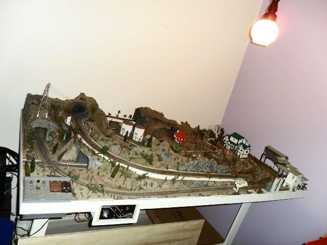 Maquete ferroviaria ferromodelismo, hobbie, decoração