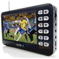 Tv portatil digital 4.3 polegadas entrada usb e radio fm