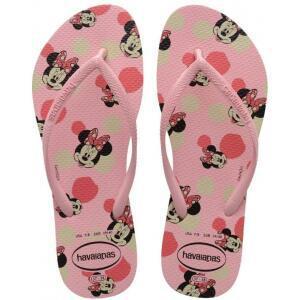 Chinelo slim disney havaianas meninas rosa macaron <div